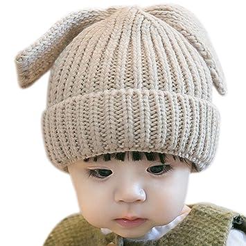 a91440a2193 Hosaire® 1pc Bonnet Bébé en Laine Chaude Bonnet De Laine Épaississant Hiver  Enfants Bonnet en
