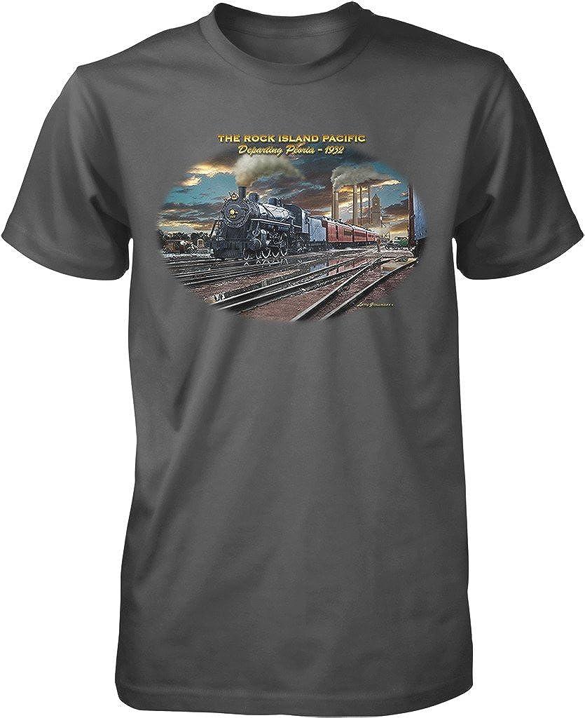 Rock Island Pacific, Departing Peoria - 1932 T-shirt, .