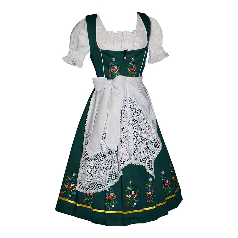 Dirndl Trachten Haus 3-Piece Long German Wear Party Oktoberfest Waitress Dress EM42-49