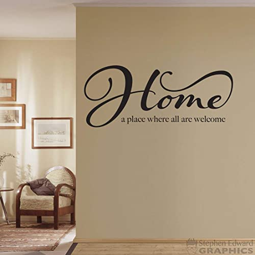 Home A Place Where All Are Welcome Decal Welcome Wall Sticker Handmade