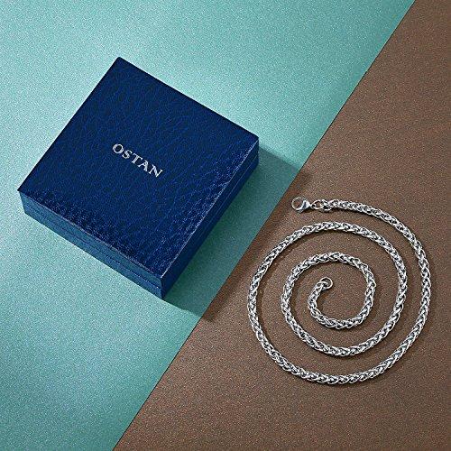 Ostan Bijoux Bijoux Hommes 316L Acier inoxydablel Gothique Pendentif Collier - Nouveaux Fashion Bijoux Hommes Collier, Argent