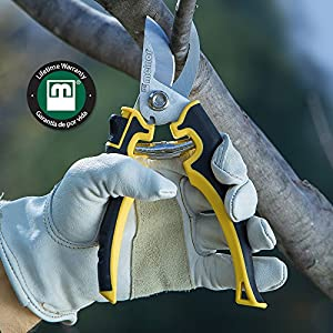 """Melnor Talon Series Hand Tools; 8.5"""" Bypass Pruning Garden Shears with Chrome Plated Blade; 1 Pack"""