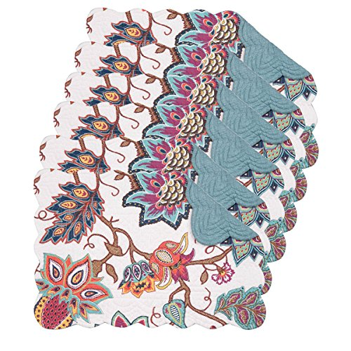 - Aurora Cotton Quilted Oblong Placemat Set of 6