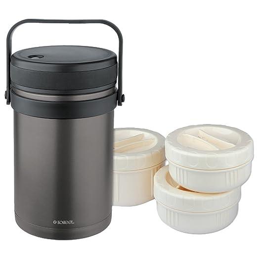 51 opinioni per Isosteel VA-9683AT- Contenitore alimentare sottovuoto, 1,5 litri, in acciaio