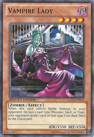 Yu-Gi-Oh! - Vampire Lady (GLD5-EN014) - Gold Series: Haunted Mine - Limited Edition - Common]()
