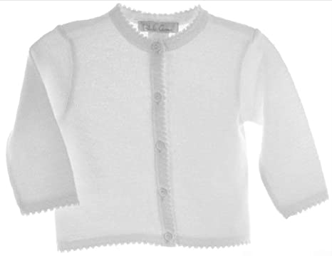 Amazon.com: Petit Ami Girl's Cotton Cardigan Sweater Infant White ...