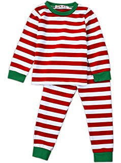 Infant Baby Kids Boys Girls Christmas Pajamas Cute Long Sleeve Stripe  Romper Jumpsuit Tops Outfits Clothes b1ef73462