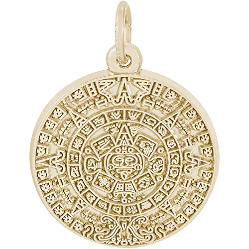 Rembrandt Charms 14K Yellow Gold Aztec Sun Charm (0.75 x 0.75 inches) (Yellow Gold Charm 14k Sun)