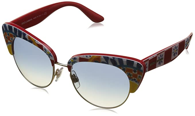 Amazon.com: Dolce & Gabbana 0DG4277 PRINT MAMBO ON RED ...