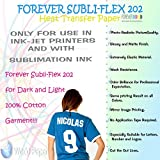 Sublimation Paper for Cotton Forever Subli-Flex 202 Dark T Shirts 8.5'' X 11'' 20 Sheets. (50 Sheets)