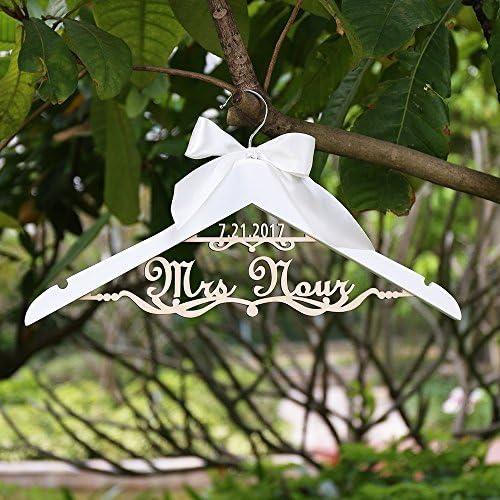 percha personalizada de boda