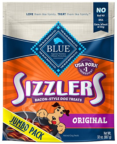 Blue Buffalo Sizzlers Bacon Style Dog Treats Made With Real