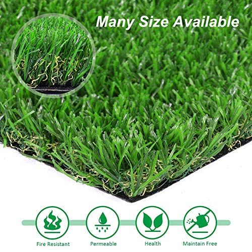 Artificial lawn Artificial Grass for Dogs Synthetic Turf Rug Indoor Outdoor Landscape Pet Area 16inx24in, Dark Green