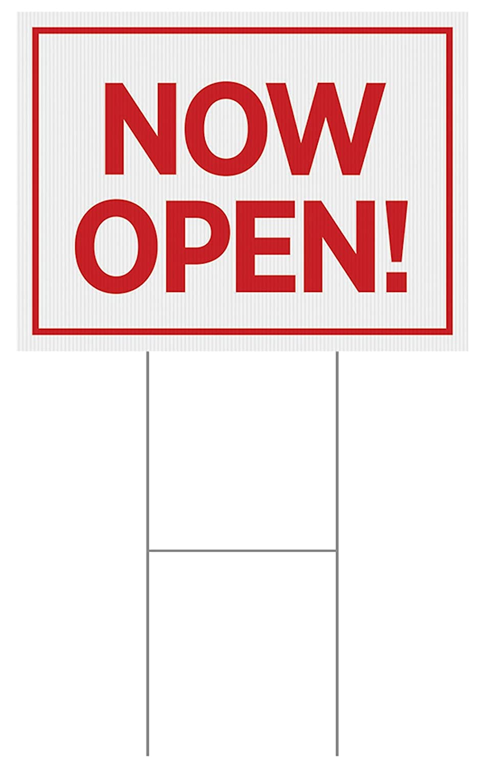 """NOW OPEN"" Full Color Yard Sign - 18"" x 24"""
