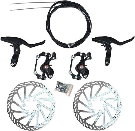 BESPORTBLE Kit de Freno de Disco de Bicicleta Freno de Disco Mecánico Cable Delantero Y Trasero