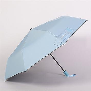 DYEWD Paraguas,Sombrilla Fresca de Verano, Paraguas Elegante de Color sólido, sombrilla de