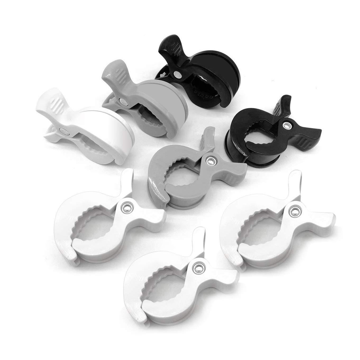 Luchild Stroller Hooks & Pram Pegs Clip Set Pram Hooks for Bags Universal Buggy Clips for Muslin and Toy (2 Buggy Hooks+ 4 Stroller Pegs)
