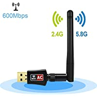 Dailychoices 600 Mbps Dual Band 2.4/5Ghz Wireless USB WiFi Network Adapter 802.11AC w/Antenna