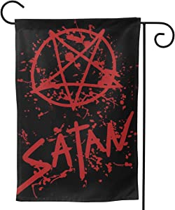"YISHOW Satan Symbol Pentagram Garden Flag Double Sided Vertical Satan Symbol Pentagram House Flags Yard Signs Outdoor Decor 12.5""X18"""