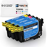 TESEN Remanufactured Ink Cartridge Replacement for Epson 220 220XL T220XL Use with Workforce WF-2760 WF-2750 WF-2630 WF…