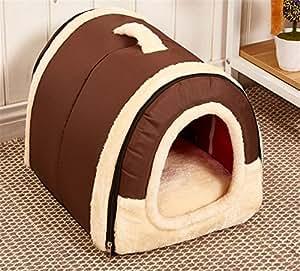 JPtuotu Multifuncional plegable Cama Cómodo Casa Para Perro gato Mascota (L (60X45X45CM), Patrón 1): Amazon.es: Hogar