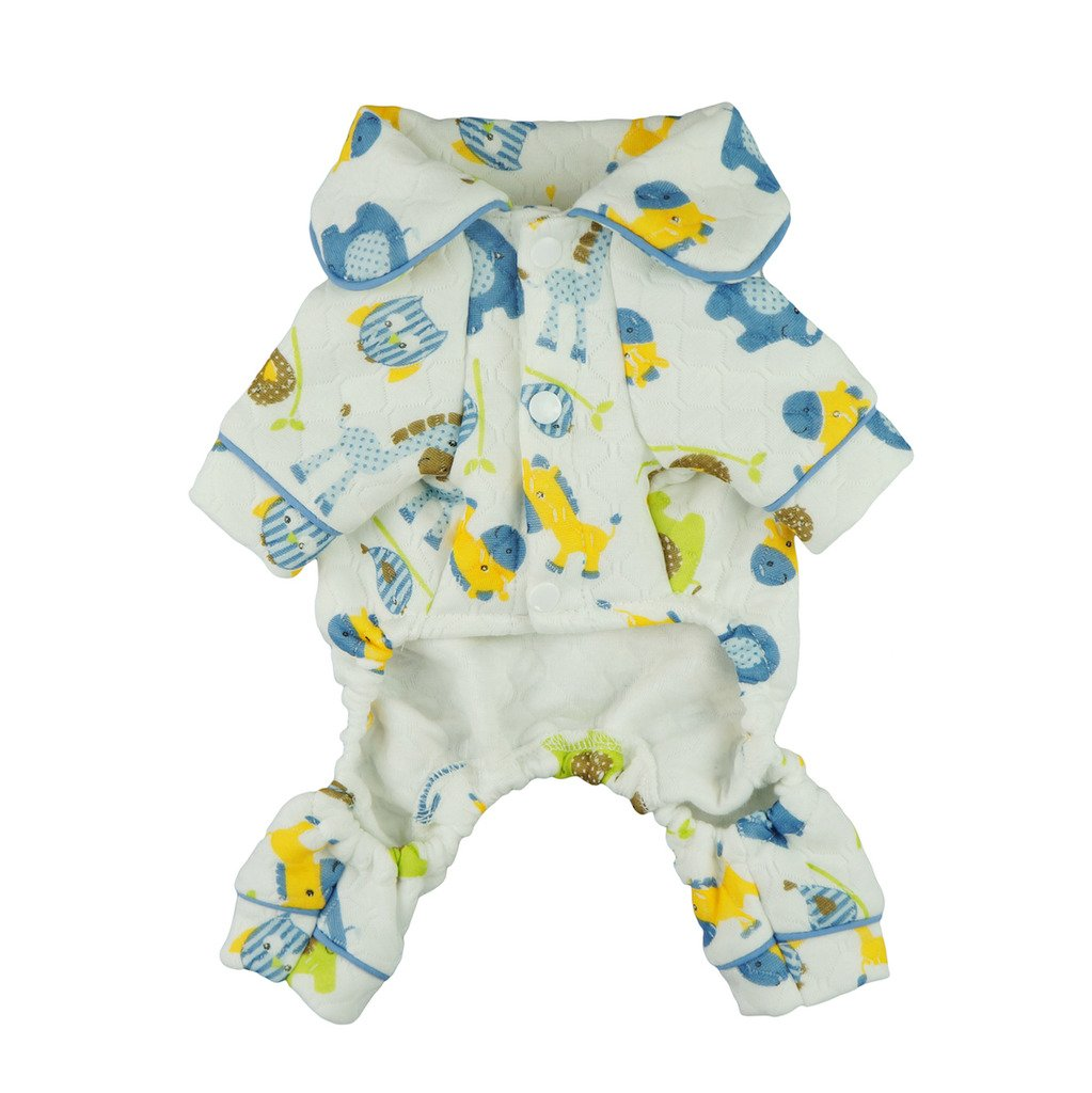 Fitwarm Adorable Thick Warm Pet Clothes for Dog Pajamas Jumpsuit PJS Apparel, XS
