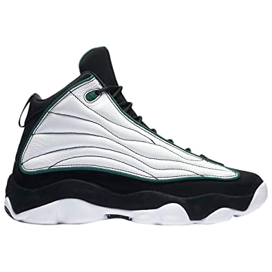 hot sale online 44a38 ab735 Jordan Men's Pro Strong Basketball Shoes, Black/Pine Green-White-Black, 9
