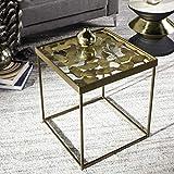 Brass Drum Side Table Safavieh FOX3218A Dov Drum Side Table, Antique Brass