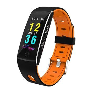 QAR Brazalete Inteligente Correa De Dos Colores Impermeable Pulsera De Deportes Inteligente Reloj Inteligente (Color : Orange): Amazon.es: Hogar