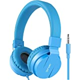 Gorsun Lightweight Stereo Folding Wired Headphones for Kids Adults Adjustable Headband Headset for Cellphones Smartphones iPh