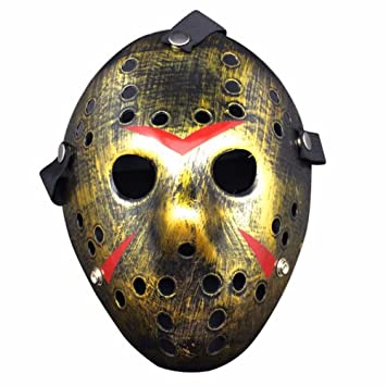 Homelix Horror Disfraz Hockey Jason Máscara Halloween Party Cosplay Accesorios