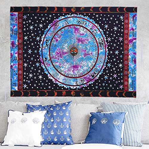 61 YkMbPGnL - Hippie Tapestry, Hippy Mandala Bohemian Tapestries, Indian Dorm Decor, Psychedelic Tapestry Wall Hanging Ethnic Decorative