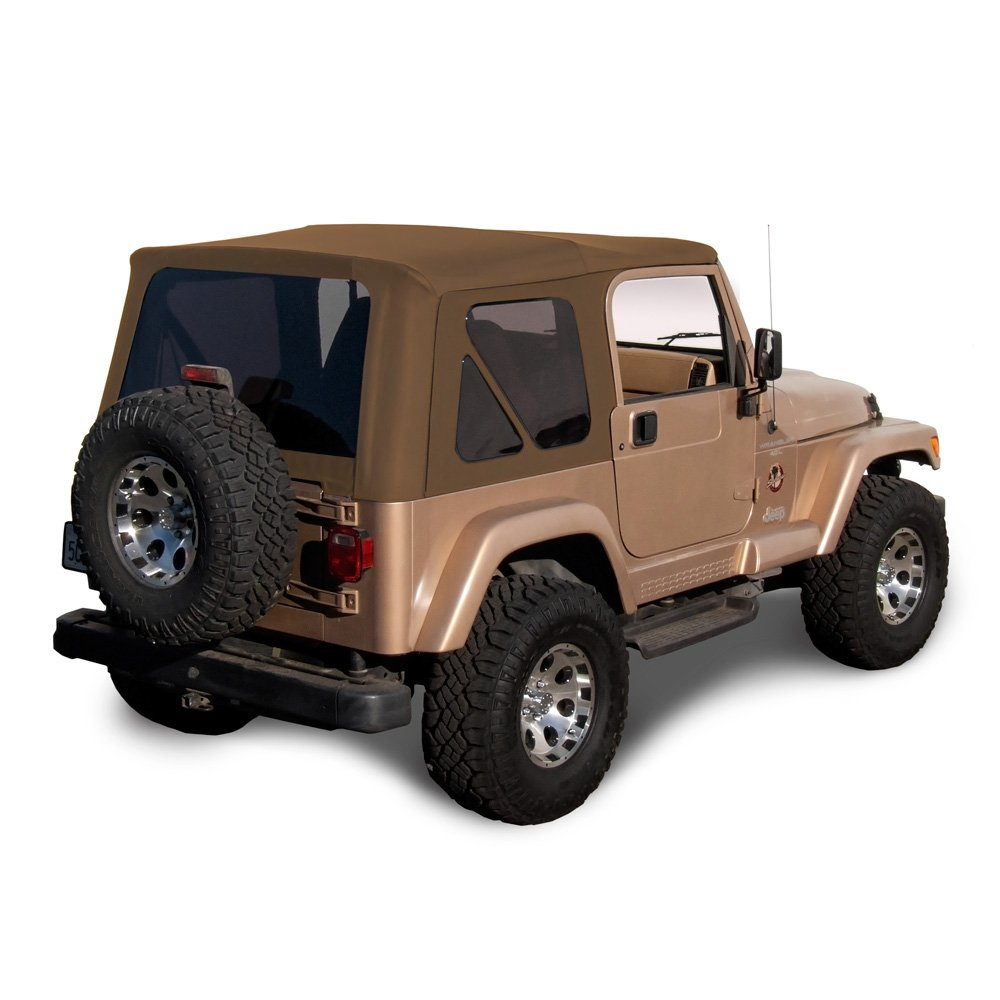 Sierra Offroad Jeep Wrangler TJ (1997-2002) Factory Style Soft Top with Tinted Windows, without Upper Doors Black Denim TJ 1997-2002