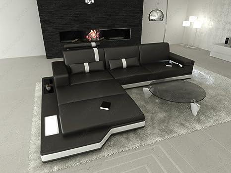 Divano Nero Moderno : Divanova divano moderno proxima angolare in vera pelle e