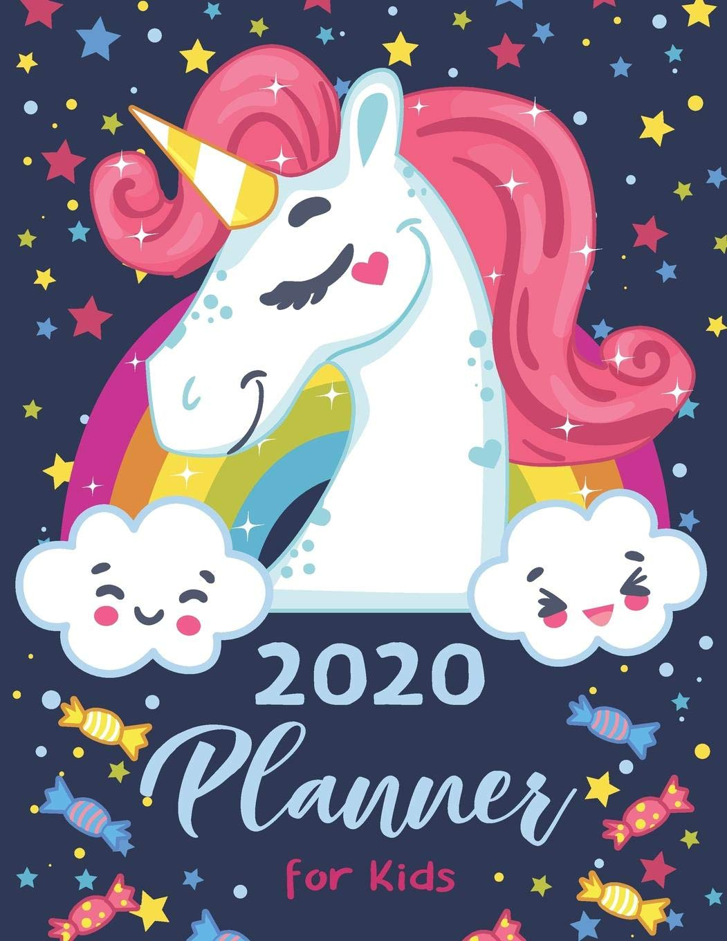 Kids December Calendar 2020 2020 Planner For Kids: Cute Unicorn Cover | Children's Daily