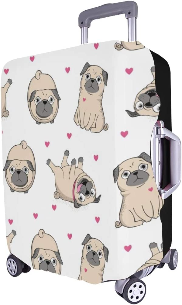 Pugs Spandex Trolley Case Travel Luggage Protector Suitcase Cover 28.5 X 20.5 Inch