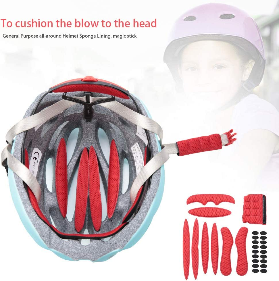 Padding Kits for Bicycle Magic Stick Anti-Collision Lining Sponge Protection with Viscose Bike Accessories for Motorcycle Cycling SOONHUA Cycle Helmet Foam Pads