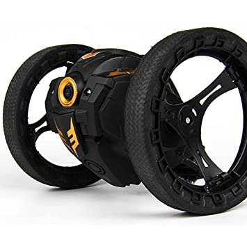 Amazon.com: LtrottedJ 2.4GHz Wireless Remote Control Jumping RC Toy Bounce Cars Robot Toys (Black): Toys & Games