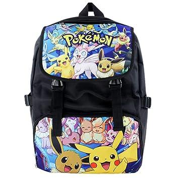 Pokemon Mochila Mochilas Infantiles para Niño y Niña Casual Mochilas de Colegio Viaje Impresión Mochilas Escolares: Amazon.es: Equipaje