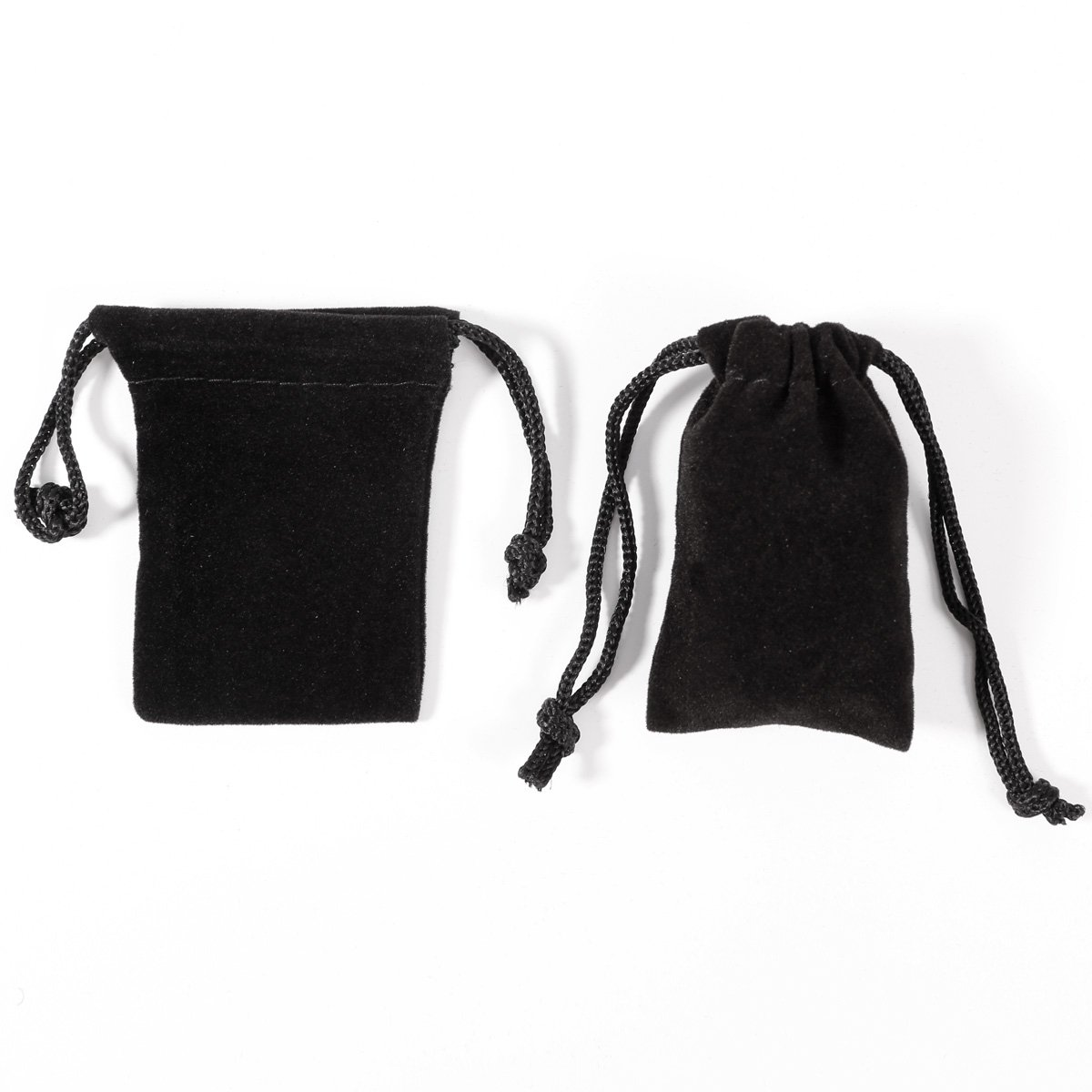 50pcs Bolsa de Organza Bolsitas de Terciopelo Negra para regalo Joyer/ía pendientes pulsera colgante anillo 5x7cm