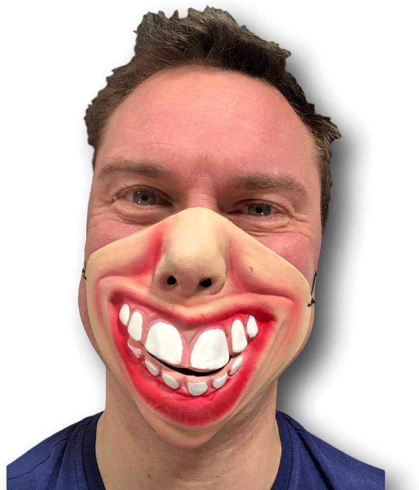 Funny Big Mouth Red Lips Smile Teeth Mask Latex Fancy Dress Stag Hen Costume