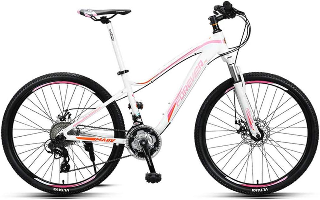 Adecuado para bicicletas de estudiante de 27 velocidades y 26 pulgadas., color blanco, tamaño L: Amazon.es: Deportes y aire libre