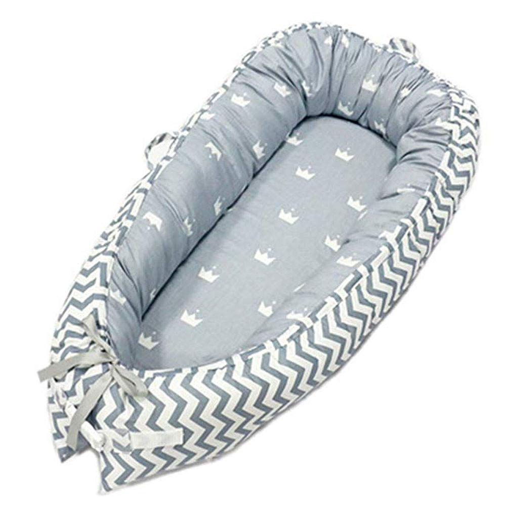 Baby Lounger, Portable Super Soft and Breathable Newborn Infant Bassinet, Removable Cover Newborn Cocoon Snuggle Bed