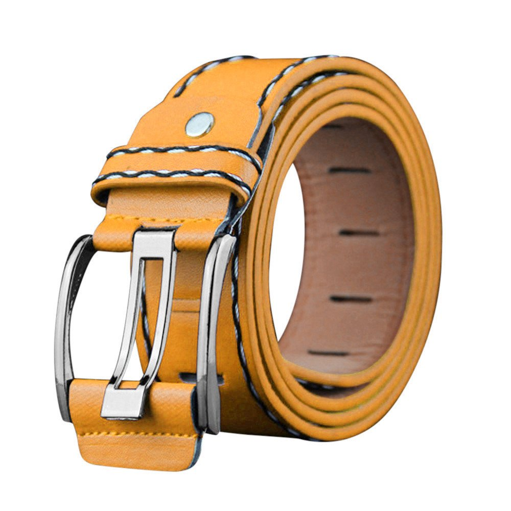 Big Sale New SFE Mens Belt Fashion Casual Leather Belts With Sliding Buckle Waist Strap