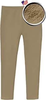 product image for City Threads Girls Fleece Lined Leggings - for School Uniform and Play Indoor Outdoor - Made in USA!