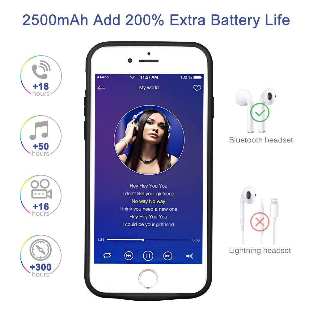 Mbuynow Coque Batterie iPhone6-6S-7-8 Batterie de SecoursChargeur Portable Batterie Externe Chargeur de Protection Power Bank pourIphone [4.7 Pouces]