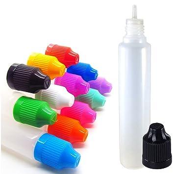 12 unidades 30 ml Unicornio bolígrafos de punta LDPE botella de plástico fino y largo –