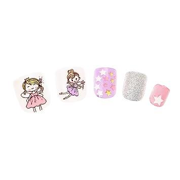 Claires Disney-Lote De 24 De uñas De color rosa con ...