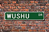 Wushu Sign Participant Wushu Gift Wushu Fan Martial Arts Lover Chinese Martial Art Aluminum Sign Novelty Street Sign Outdoor Garage Cave Decor