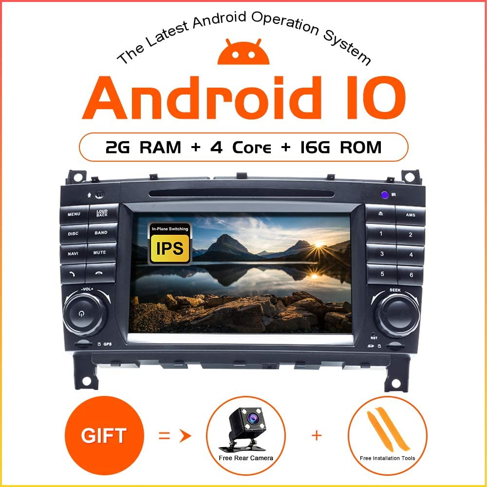 ZLTOOPAI Android 10.0 Autoradio f/ür Mercedes Benz W209//W203//Sprinter//Viano//Vito//VW Crafter Audio GPS Navi Autoradio Unterst/ützung IPS DSP WiFi SWC